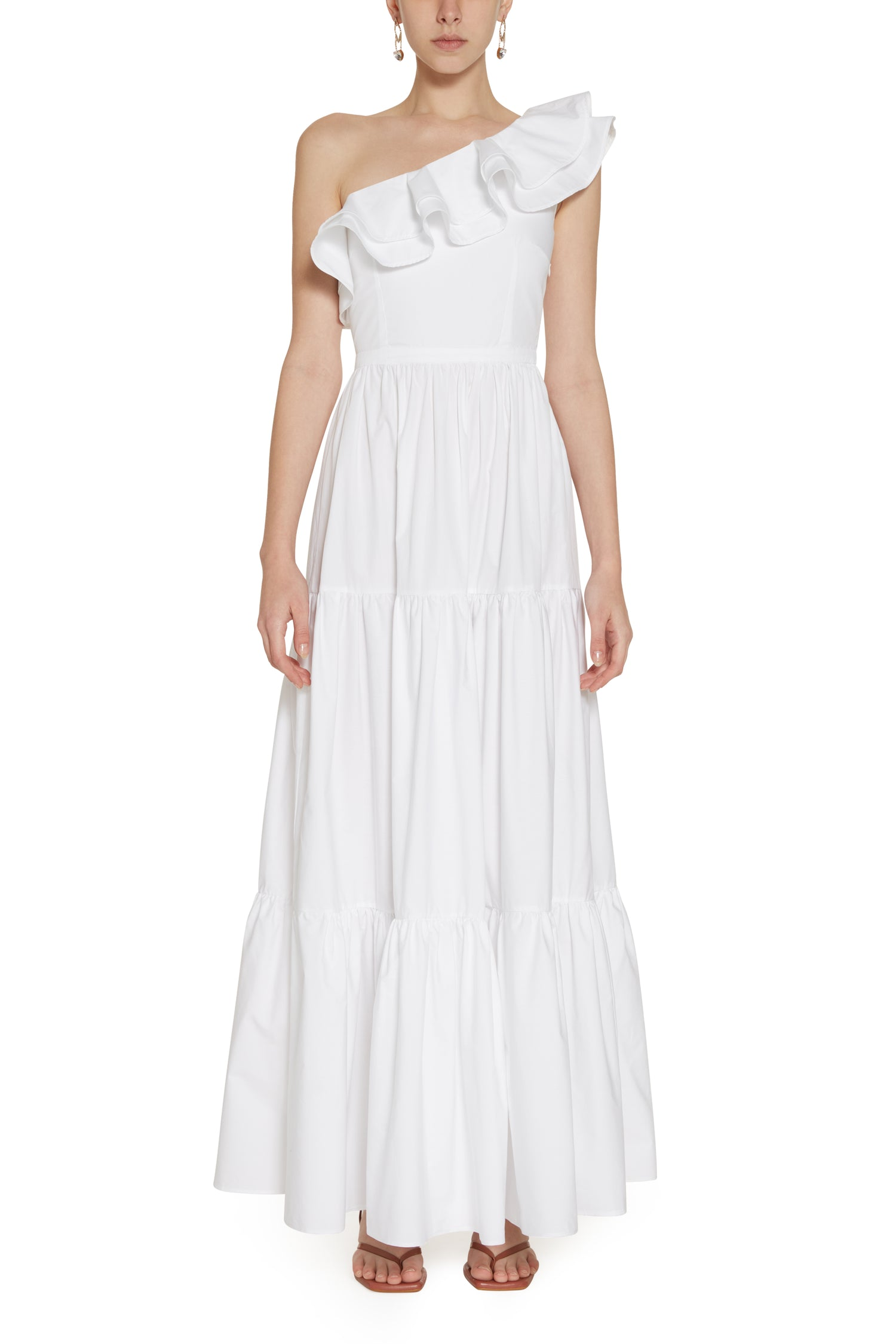WHITE POPLIN LEONOR DRESS