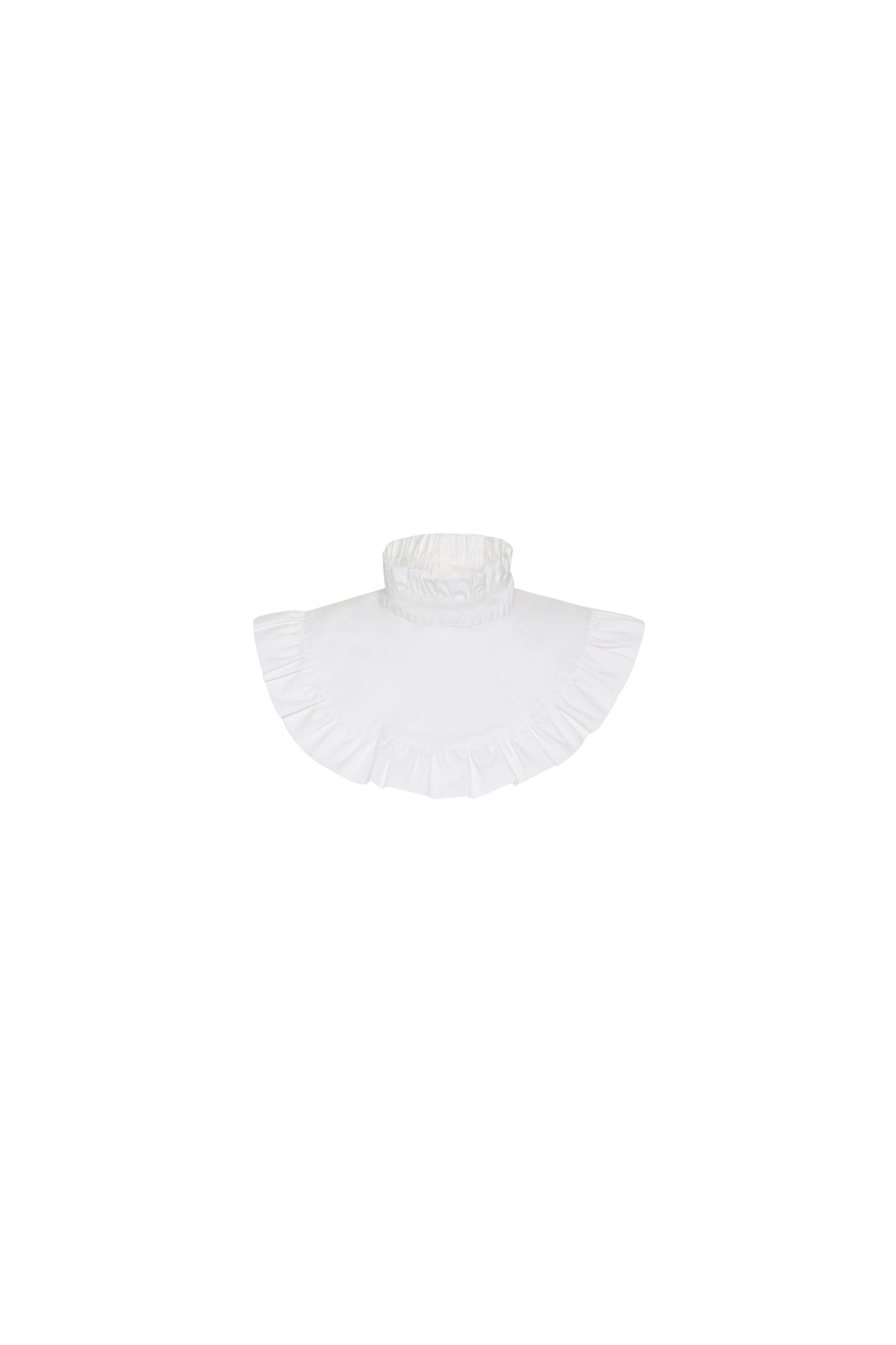 Alice Ruffle White Collar