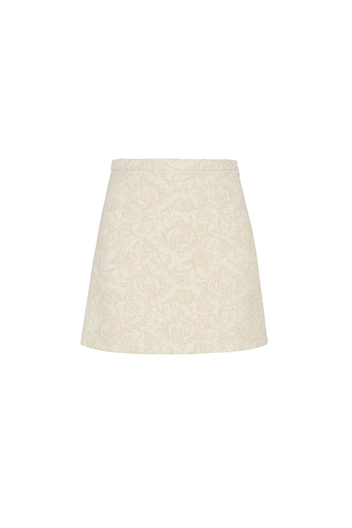 BABY MINI SKIRT IN IVORY BROCADE