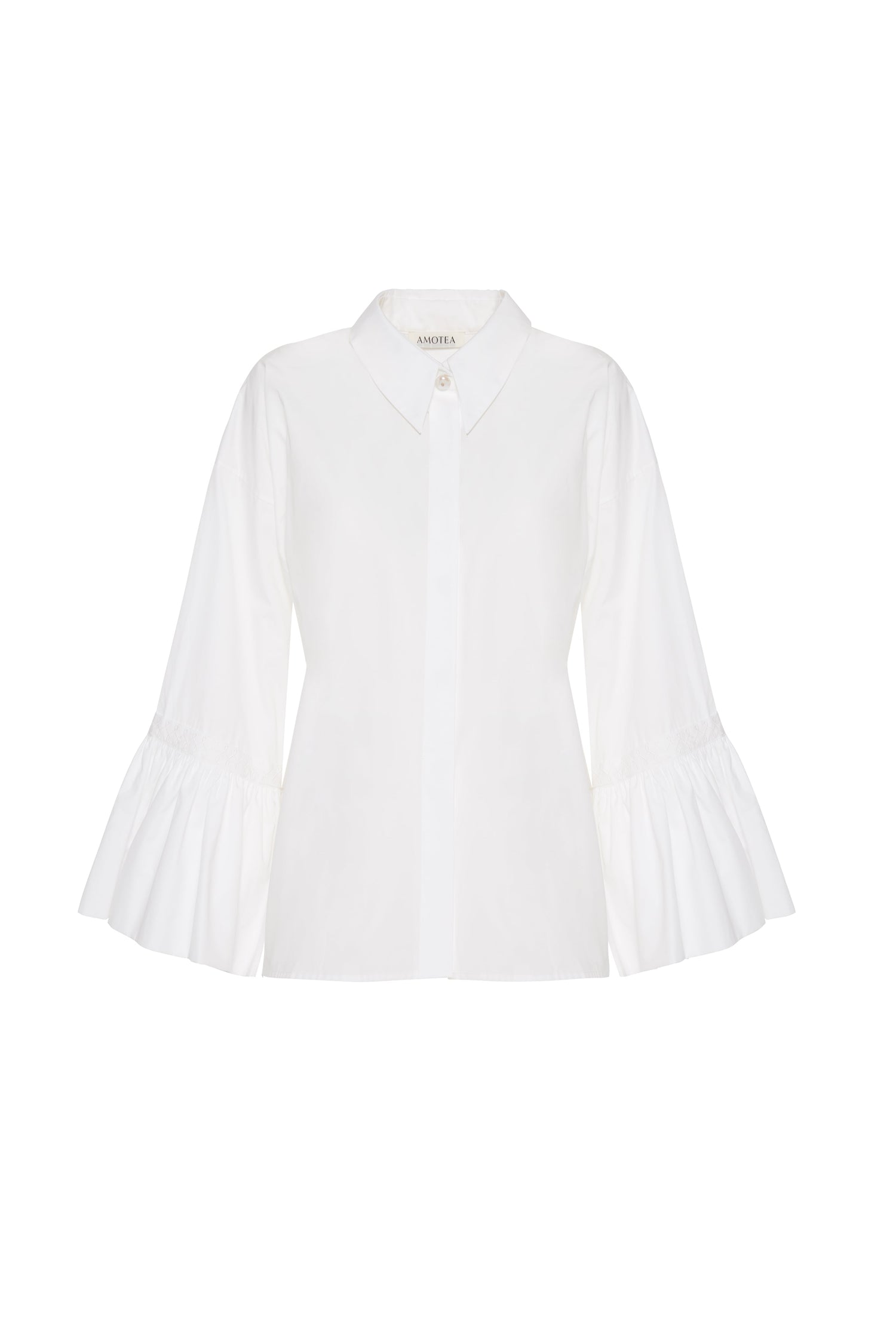 CLAUDIA SHIRT IN WHITE POPLIN