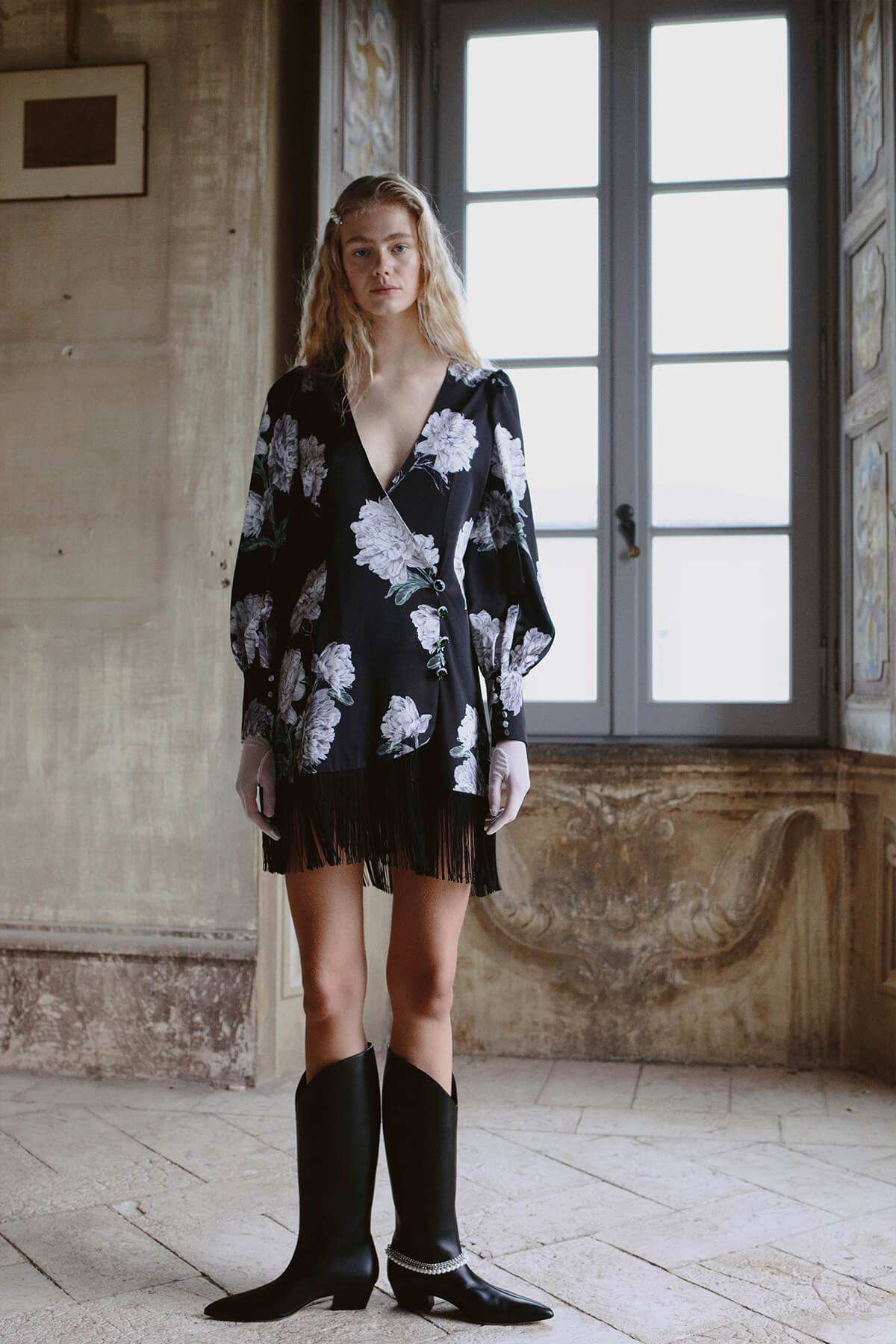 Clotilde Mini Dress Peony