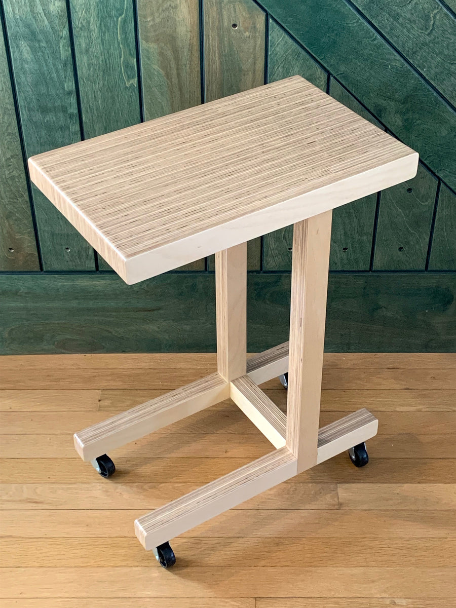 Rolling 'C' Side Table