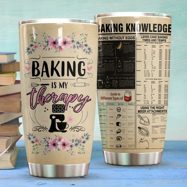 Baking Is My Therapy Stainless Steel Tumbler