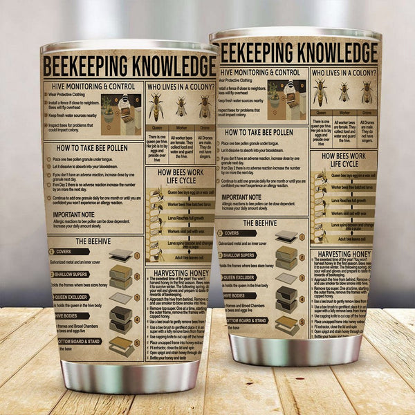 Beekeeper Knowledge Stainless Steel Tumbler