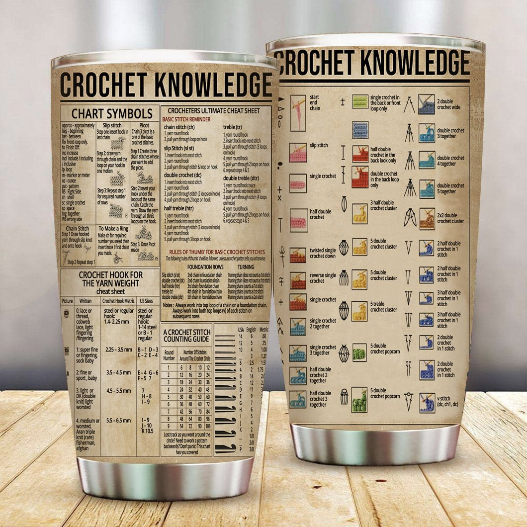 Crochet Knowledge Stainless Steel Tumbler