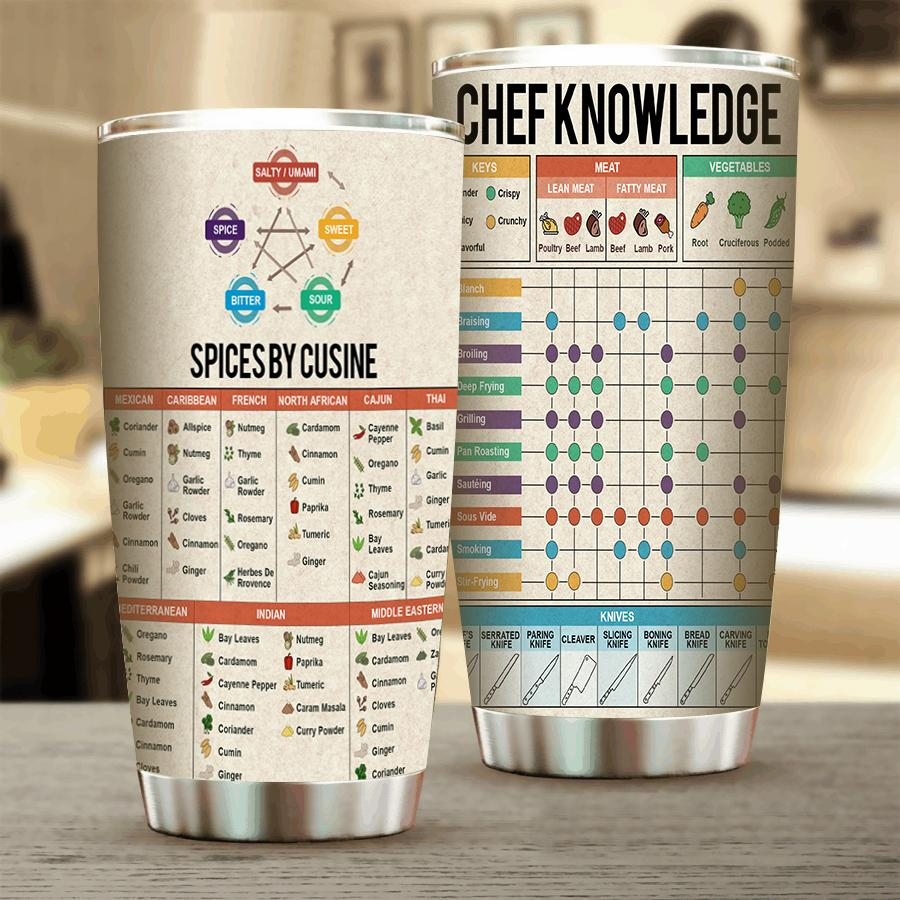 Cooking Knowledge Stainless Steel Tumbler