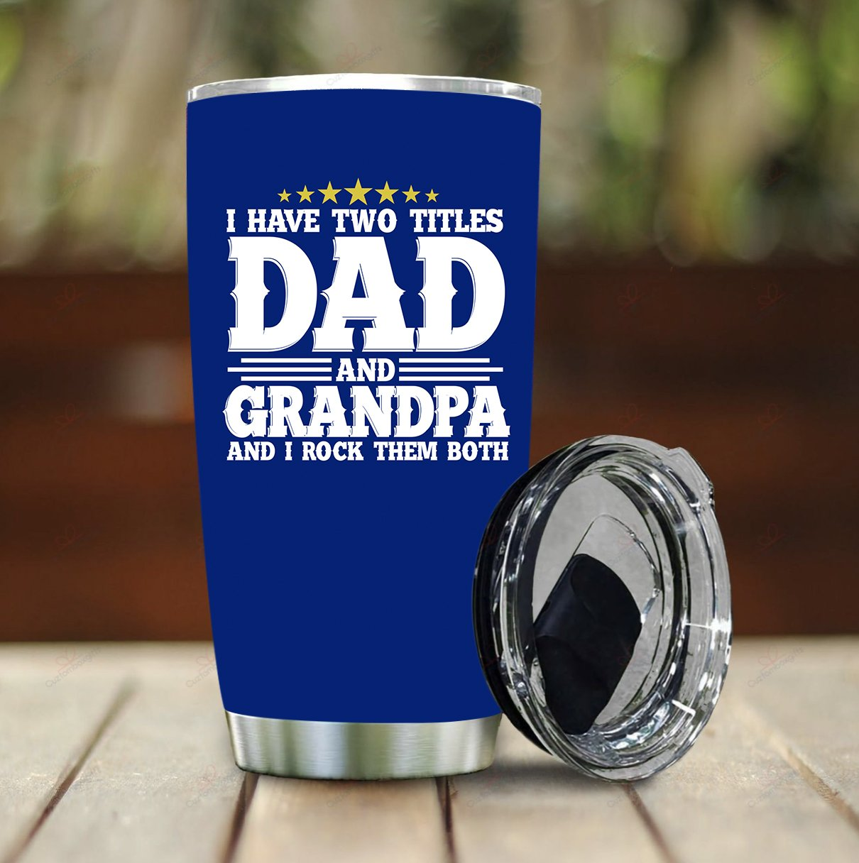 Dad and Grandpa Stainless Steel Tumbler