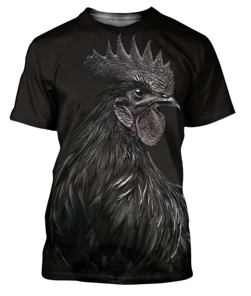 Dark Chicken 3D Printed T-Shirt
