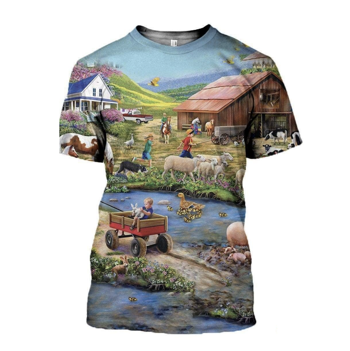 Family Farm 3D Printed T-Shirt