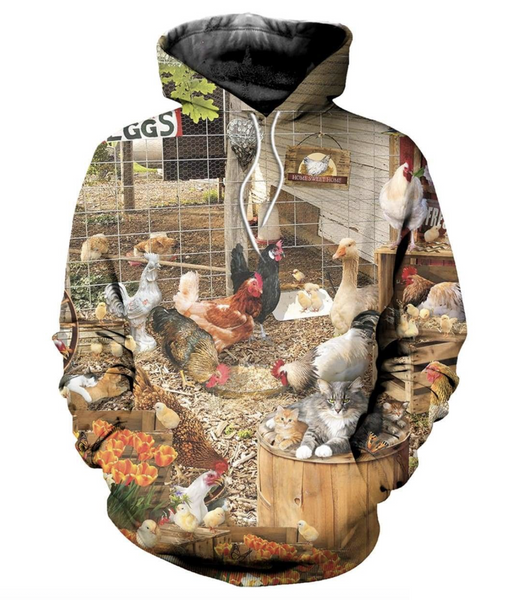 Feather Farm 3D Hoodie