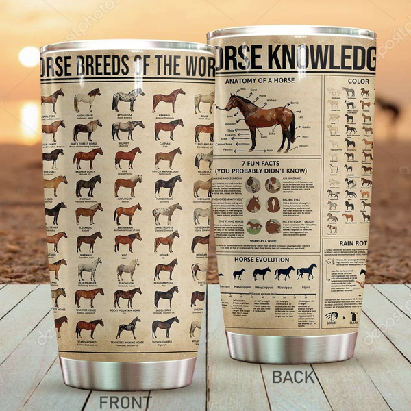 Horse Knowledge Stainless Steel Tumbler