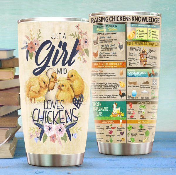 Just A Girl Raising Chickens Stainless Steel Tumbler