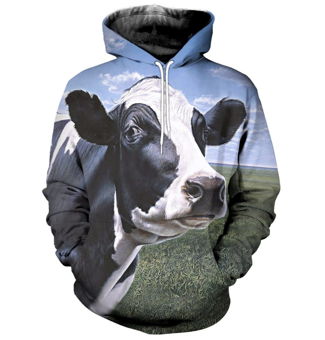 Life Is Better With Cows 3D Printed Hoodie