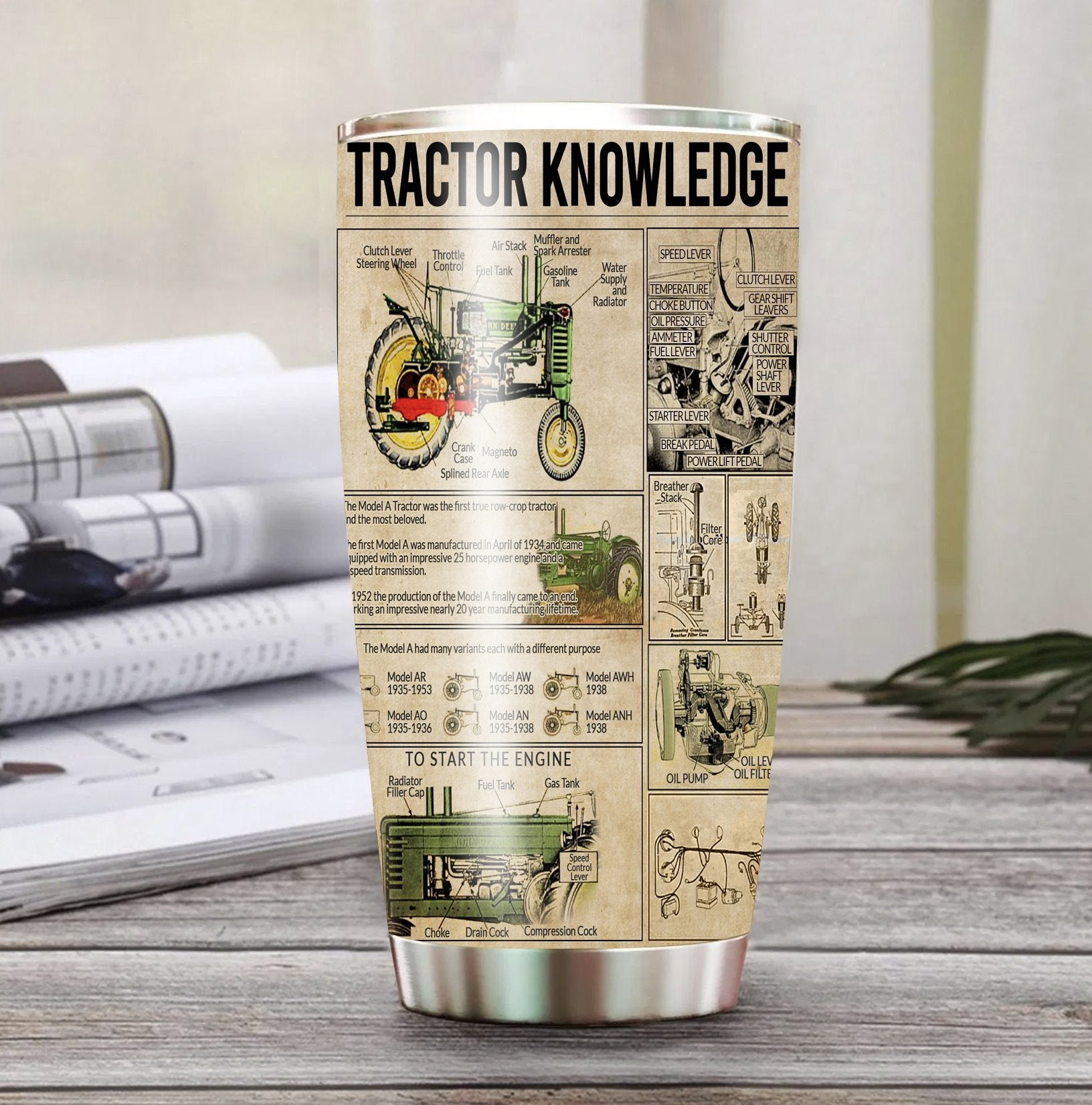 Model A Tractor Knowledge Stainless Steel Tumbler