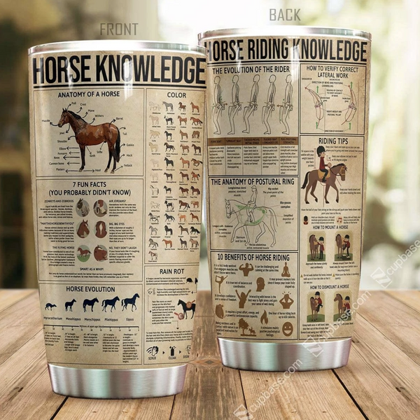 Horse Riding Knowledge Stainless Steel Tumbler