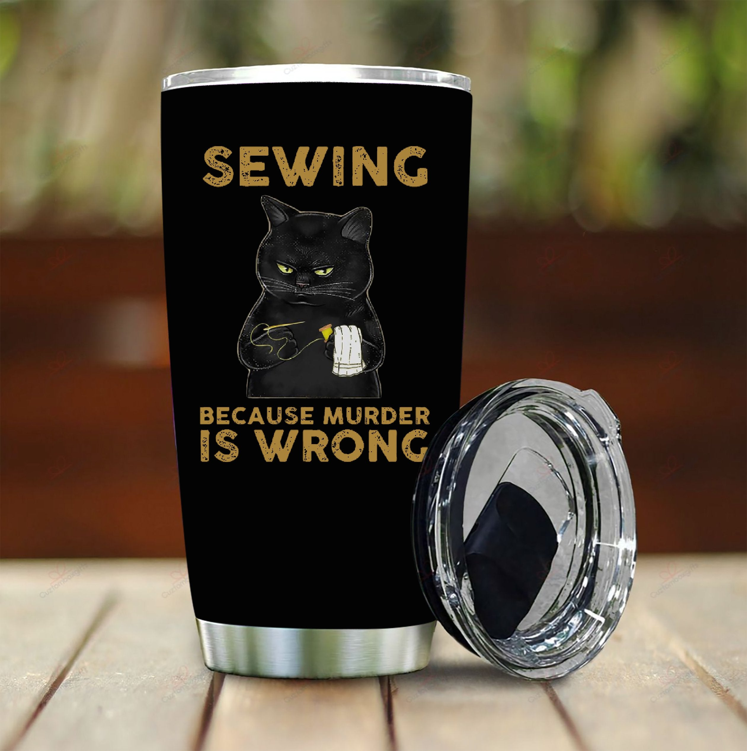 Sewing Because Murder Is Wrong Tumbler