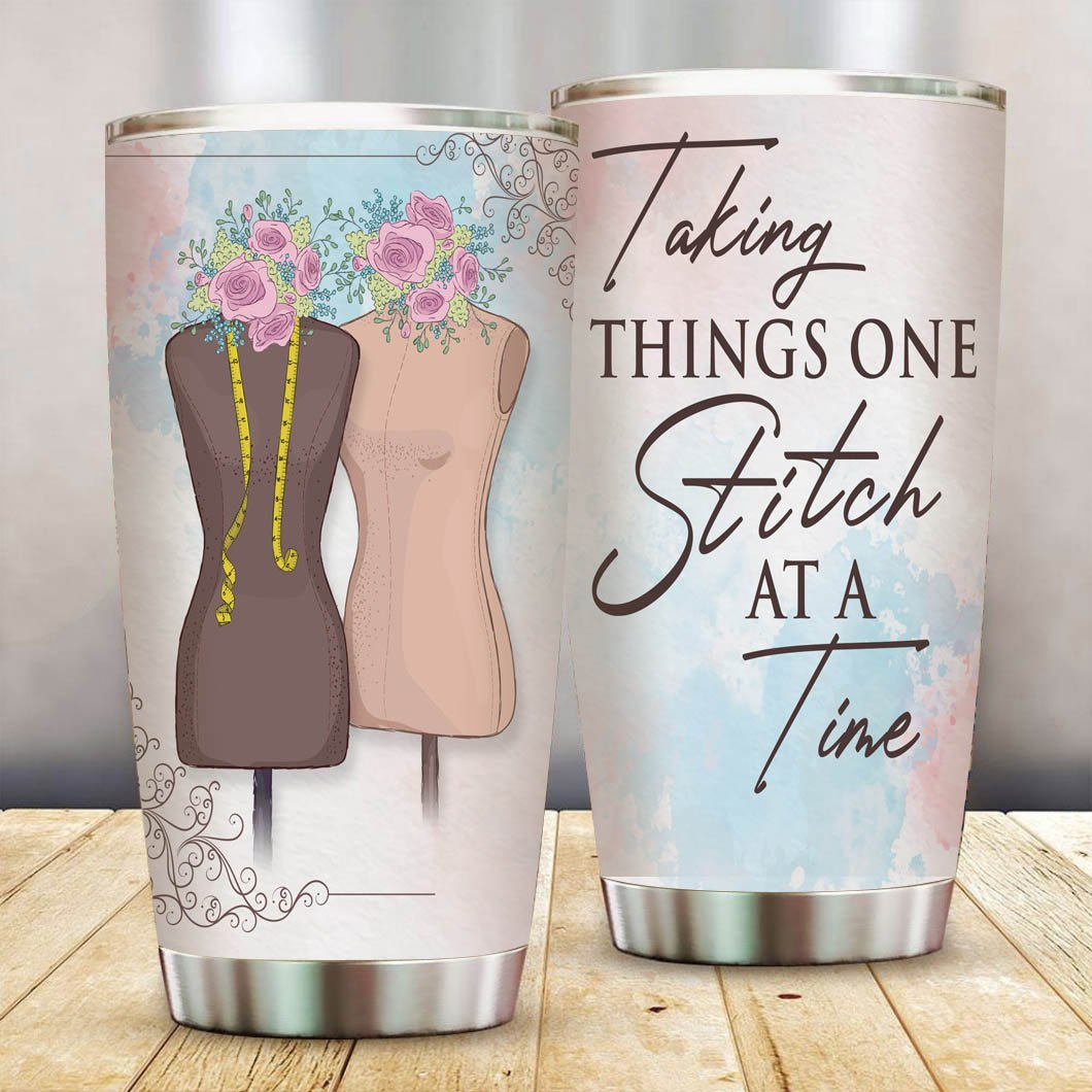 One Stitch At A Time Stainless Steel Tumbler