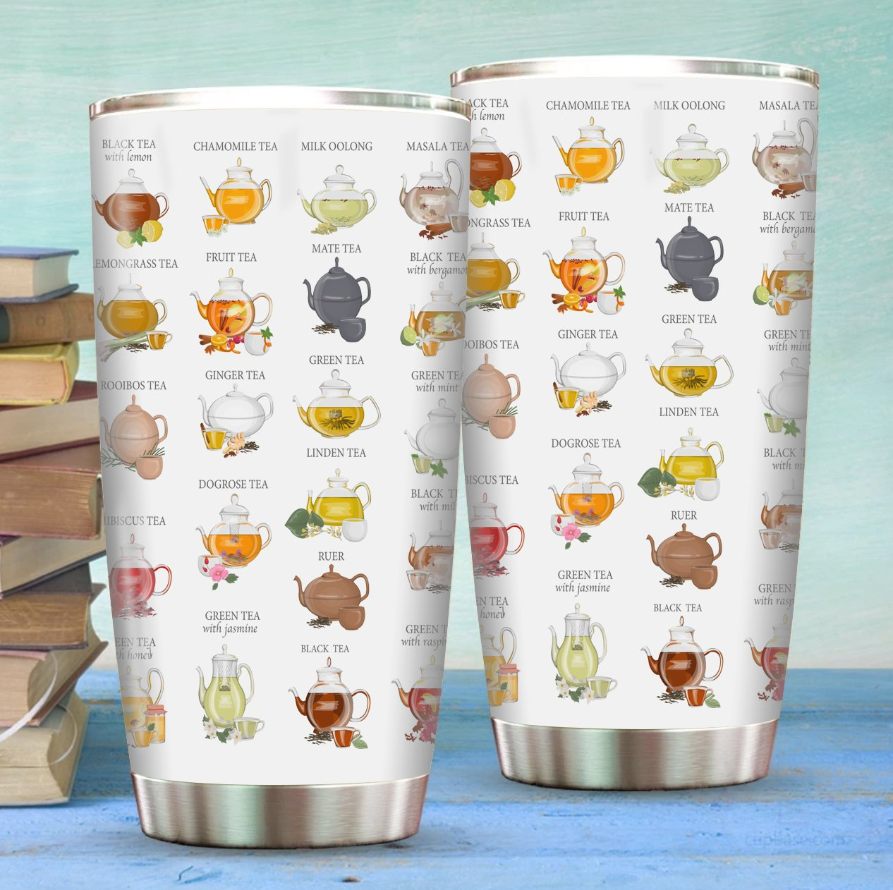 Tea Titles Stainless Steel Tumbler