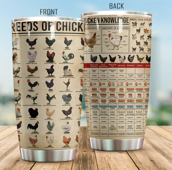 Chicken Knowledge Stainless Steel Tumbler