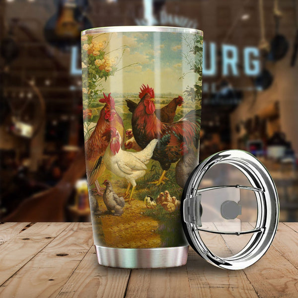 Chicken Meadows Stainless Steel Tumbler