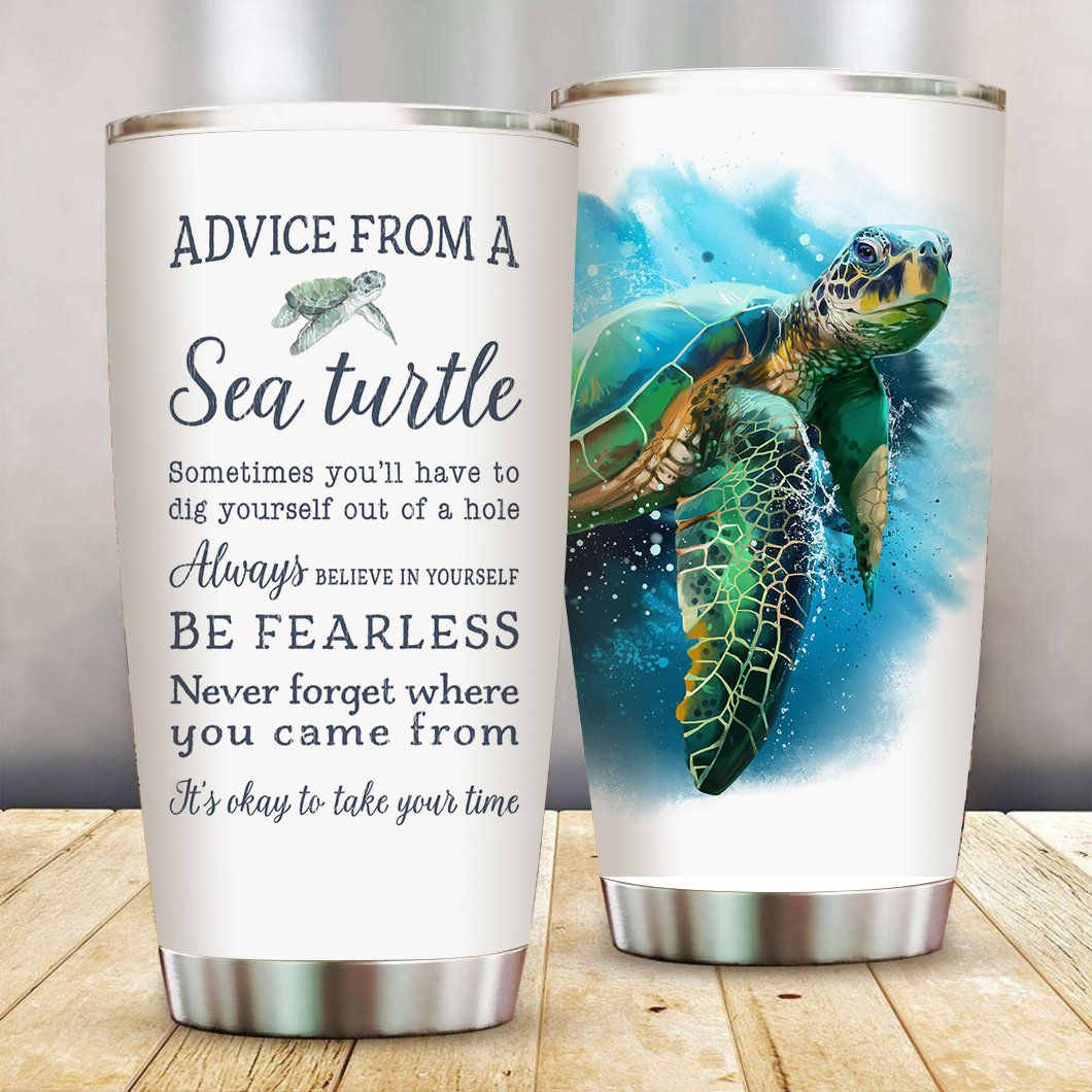 Advice from a Sea Turtle Tumbler