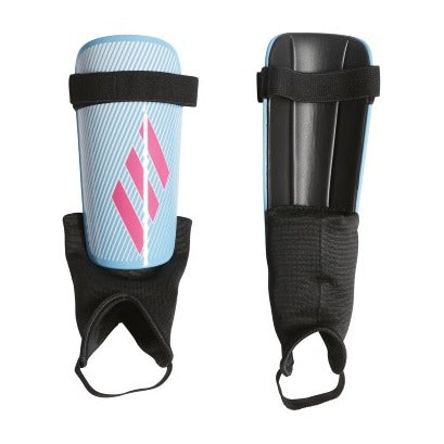 adidas X Club Shin Guards, Blue/Pink/Black