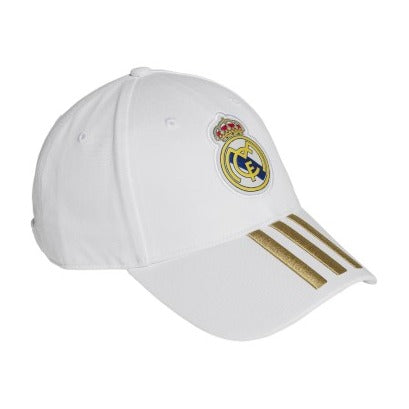 adidas 2019 Real Madrid 3S Cap, White/Gold