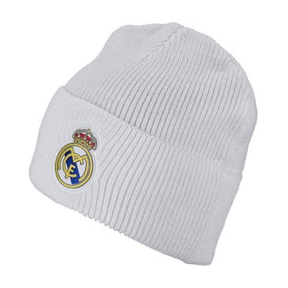 adidas 2019 Real Madrid Knit Beanie, White
