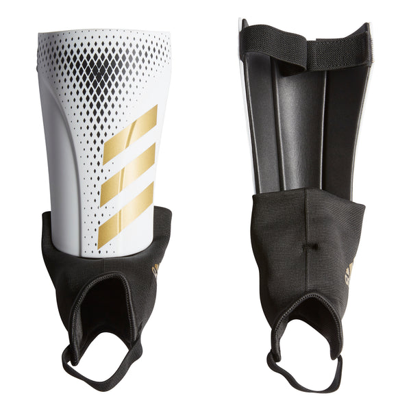 adidas Predator 20 Match Shin Guards, White/Gold