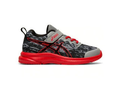 asics Soulyte PS Youth Running Shoes, Grey/Red