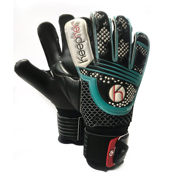 Keepher Womens Nemow Pro Goalkeeper Glove, Black