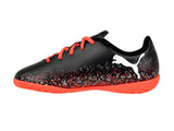 PUMA TRUORA Youth Indoor Soccer Shoe, Black/Orange