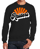 Raiders Unisex Crew Sweatshirt in Black - choice of design