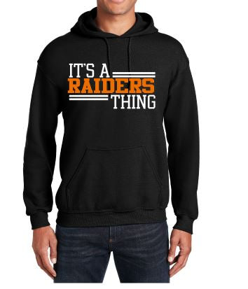 Raiders Unisex Hoodie Sweatshirt in Black - choice of design