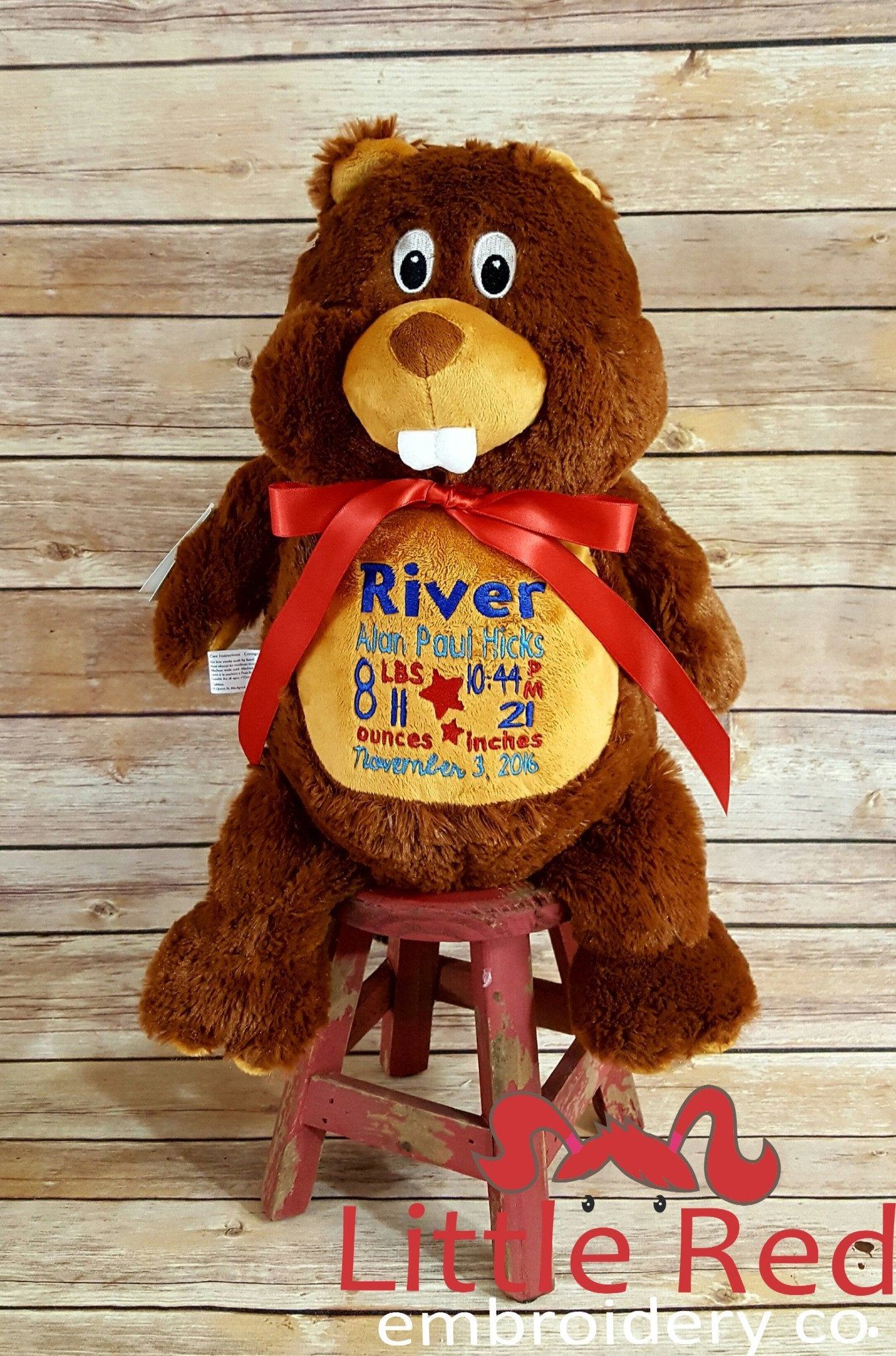 Cubbies™ Beaver Stuffie with Custom Embroidery