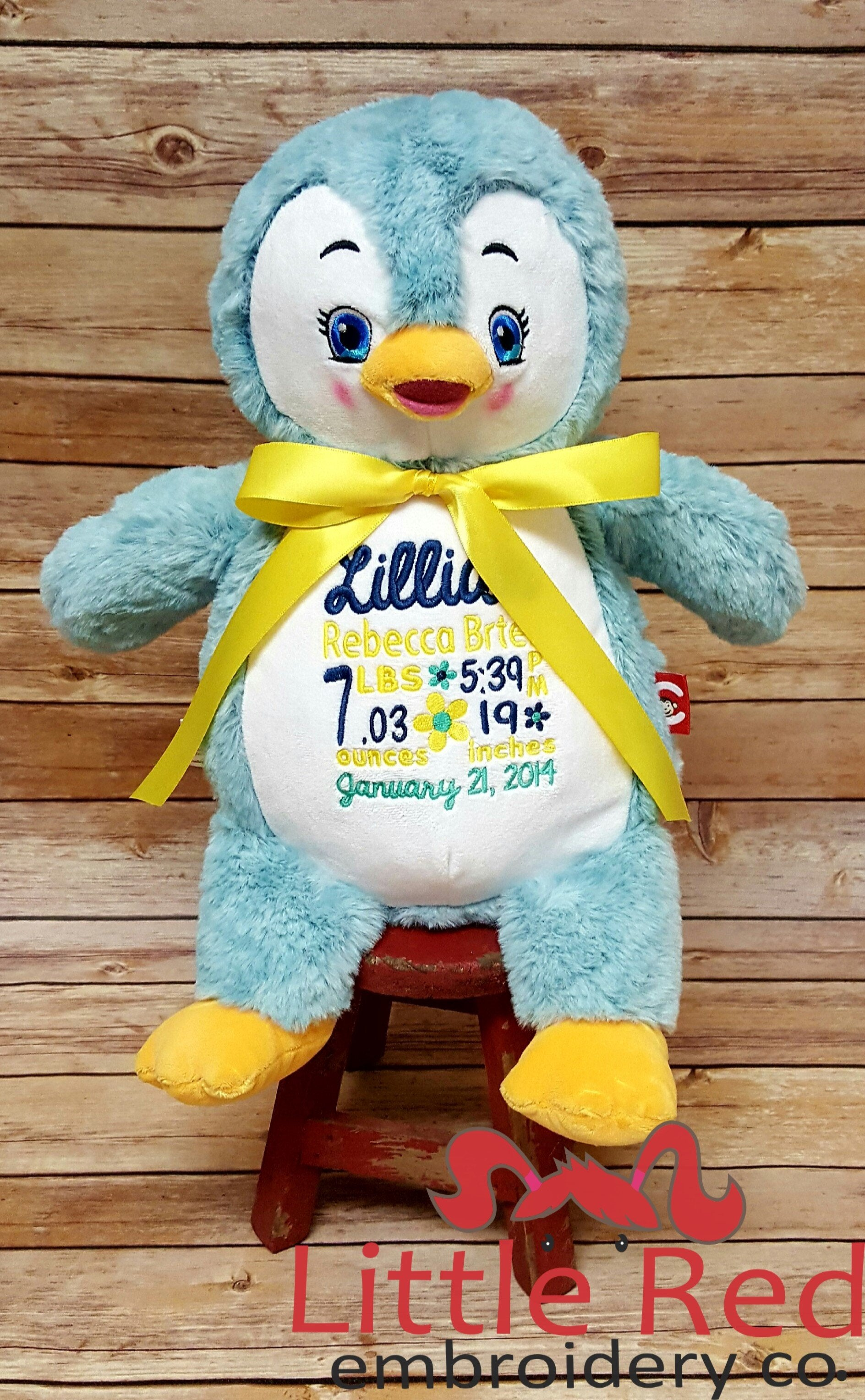 Cubbies™ Signature Collection Penguin Stuffie with Custom Embroidery