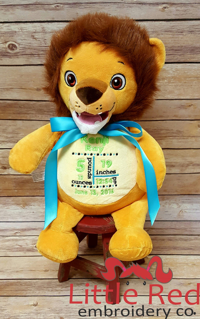 Cubbies™ Signature Collection Lion Stuffie with Custom Embroidery