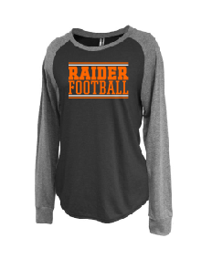 Raiders Football Womens Raglan Jersey Crew - choice of design