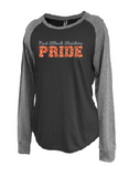 Raiders Womens Raglan Jersey Crew - choice of design