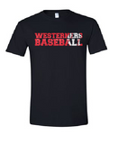Westerners Baseball Youth Tee in Black - choice of design