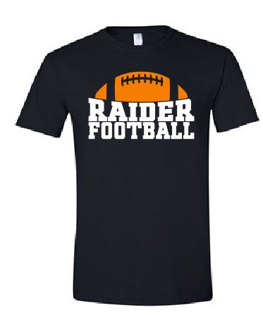 Raiders Football Unisex Tee in Black - choice of design