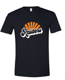 Raiders Unisex Tee in Black - choice of design