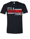 Westerners Unisex Tee in Black - your choice of design