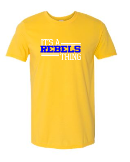 Rebels Youth Tee in Gold - choice of design