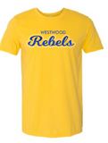 Rebels Unisex Tee in Gold - choice of design