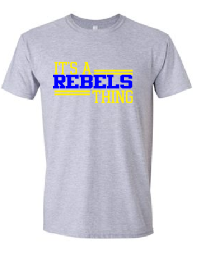 Rebels Youth Tee in Sports Grey - choice of design