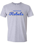 Rebels Toddler Tee in Sports Grey - choice of design
