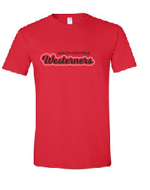 Westerners Unisex Tee in Red - your choice of design