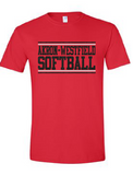 Westerners Softball Youth Tee in red - your choice of design