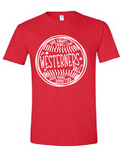 Westerners Baseball Unisex Tee in Red - choice of design